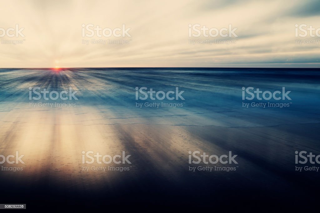 Abstract Sea and Sky Background – Sunset stock photo