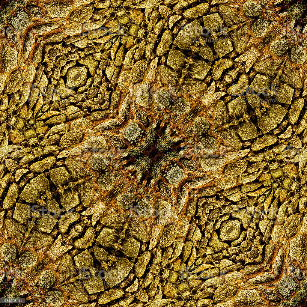 Abstract seamless reptile pattern with brown scales stock photo