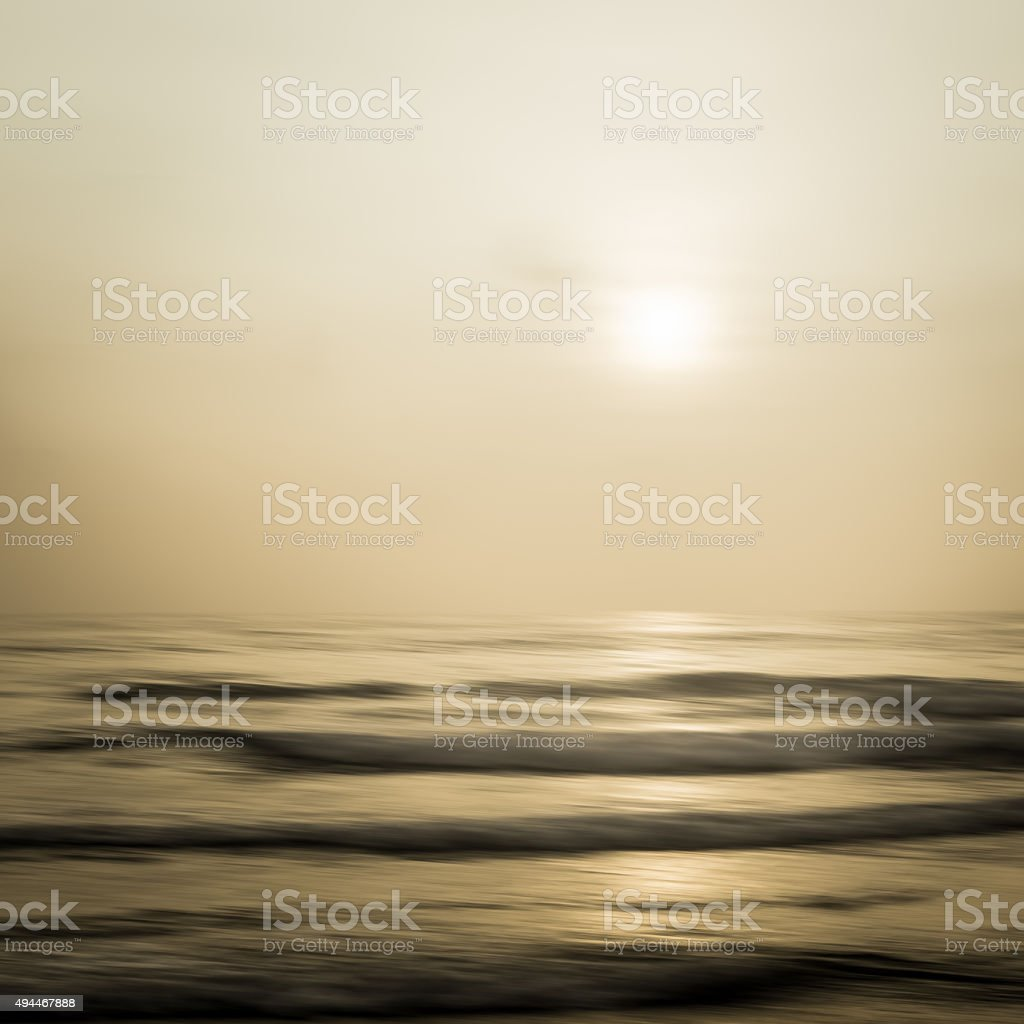 Abstract seascape with blurred panning motion background stock photo