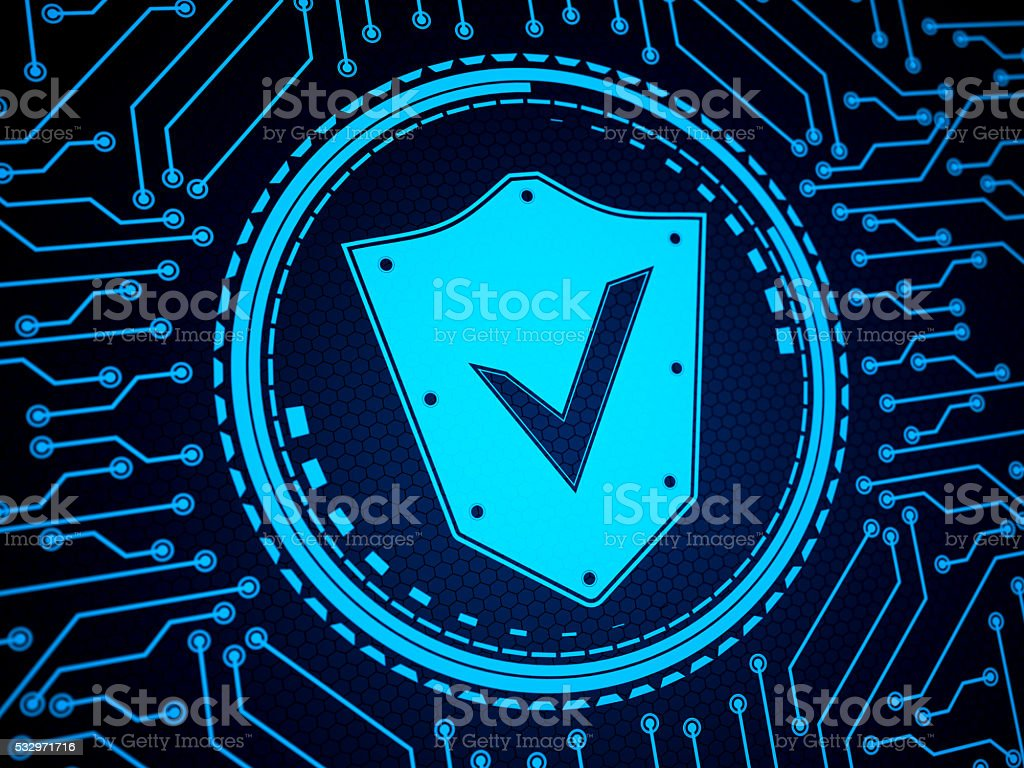 Abstract Security System Shield stock photo