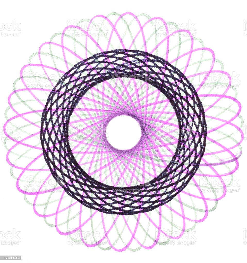 Abstract shape drawing royalty-free stock photo