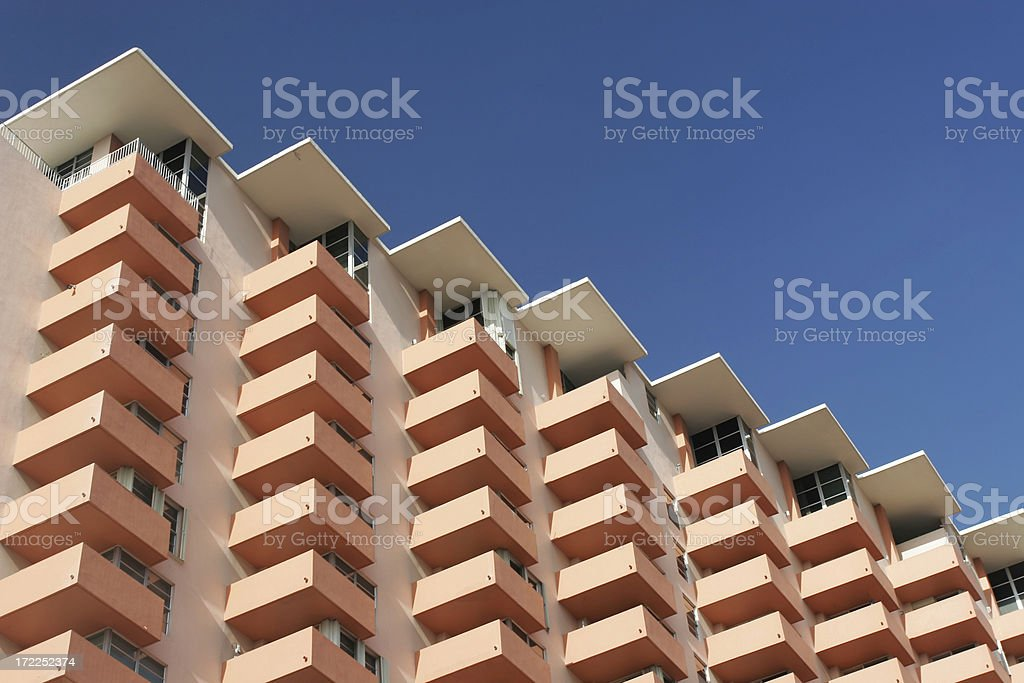 Abstract shaped building royalty-free stock photo