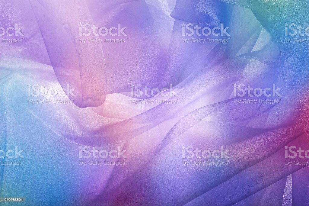 Abstract sheer fabric background stock photo