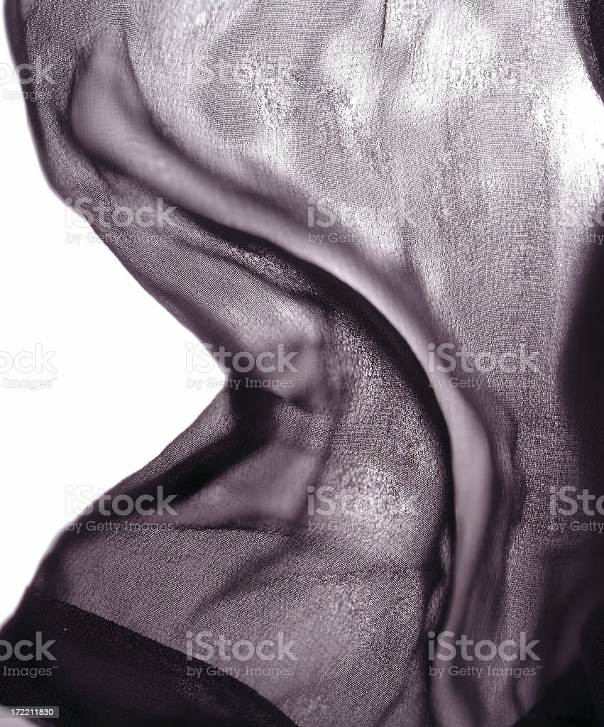 Abstract sheer fabric texture layer royalty-free stock photo