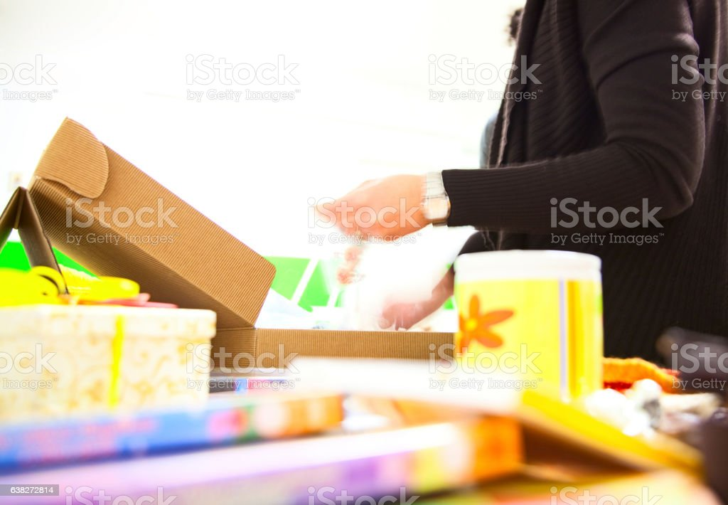 Abstract shop in blurry for background stock photo