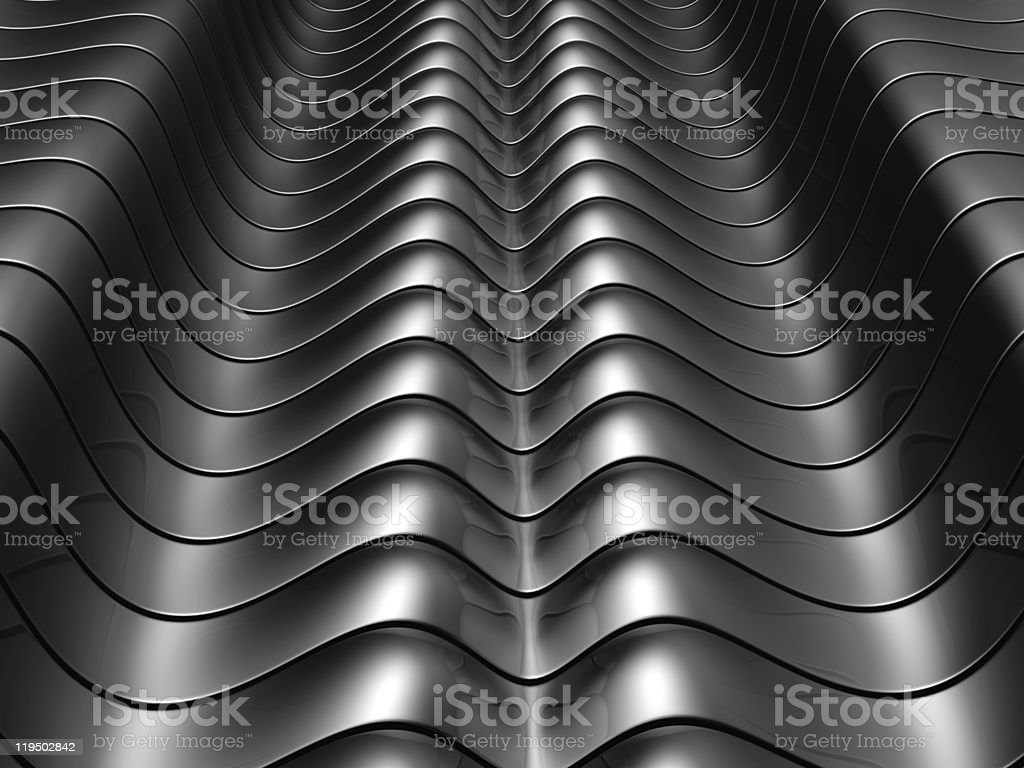 Abstract silver aluminium curve stripe background royalty-free stock photo