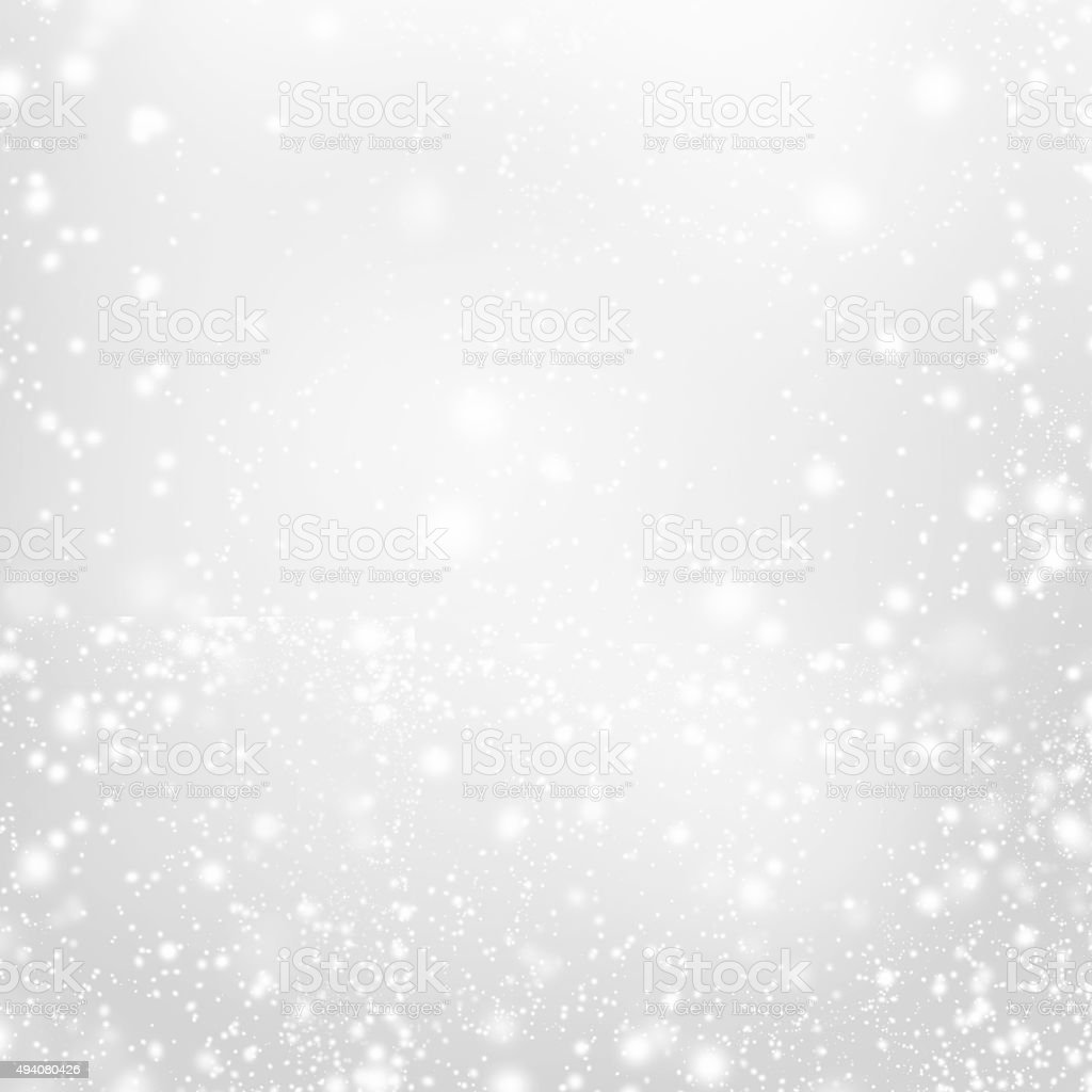 Abstract  Silver Christmas Background with white  lights. Festive stock photo