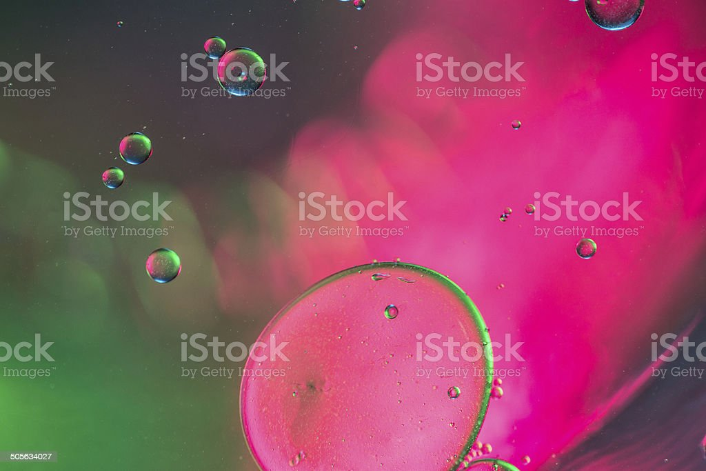 Abstract single bubbles of water floating royalty-free stock photo