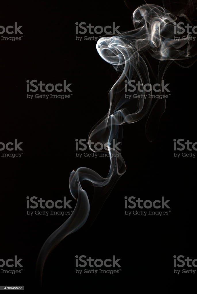 Abstract smoke art on black background stock photo