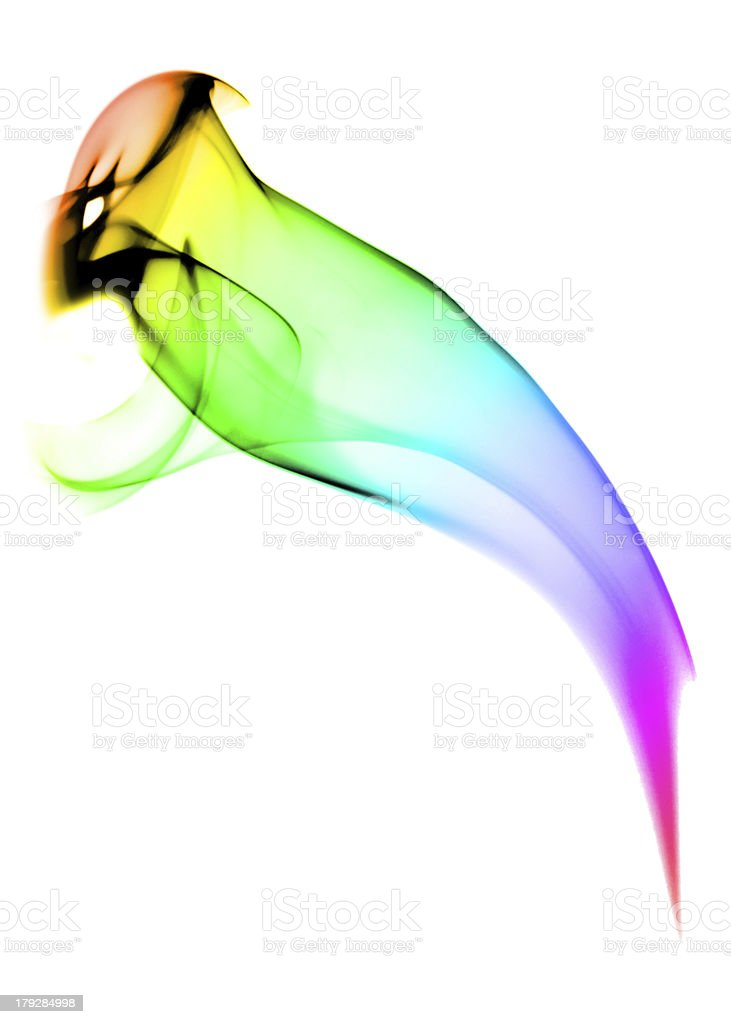 Abstract smoke bird with gradient color royalty-free stock photo