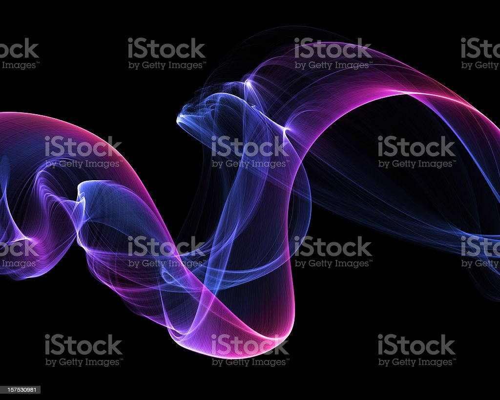 abstract smoke isolated on black stock photo