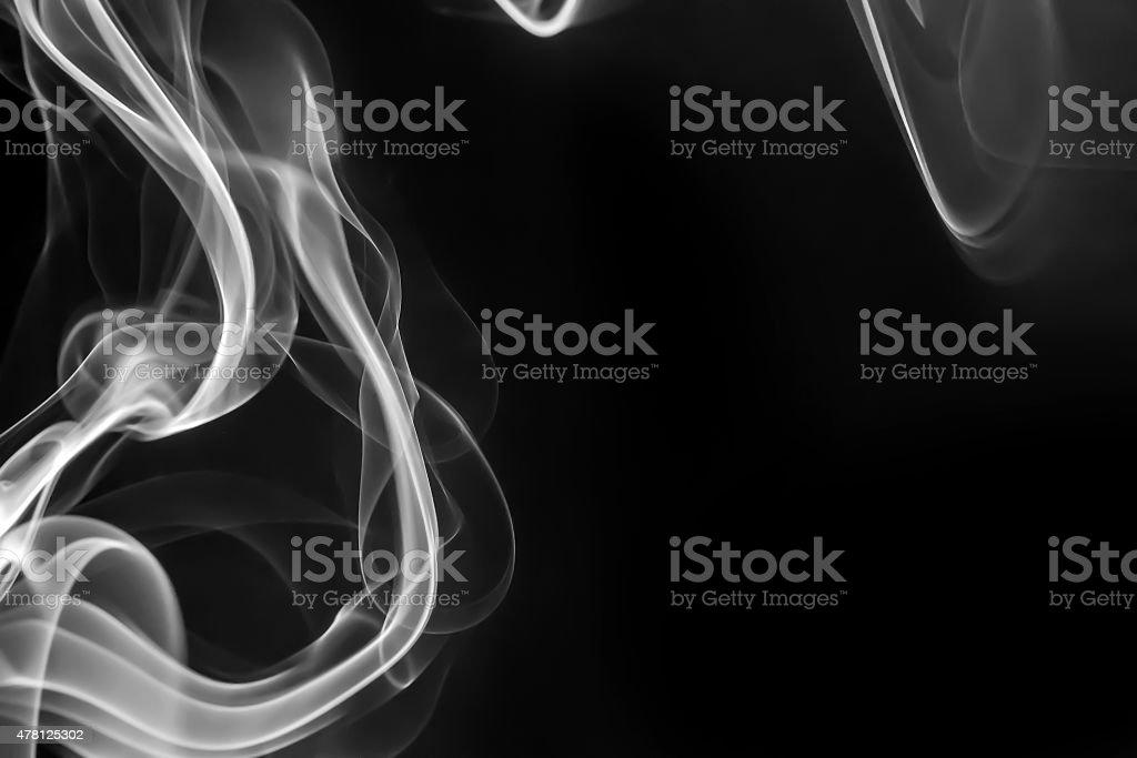 Humo abstracto aislado en negro foto de stock libre de derechos