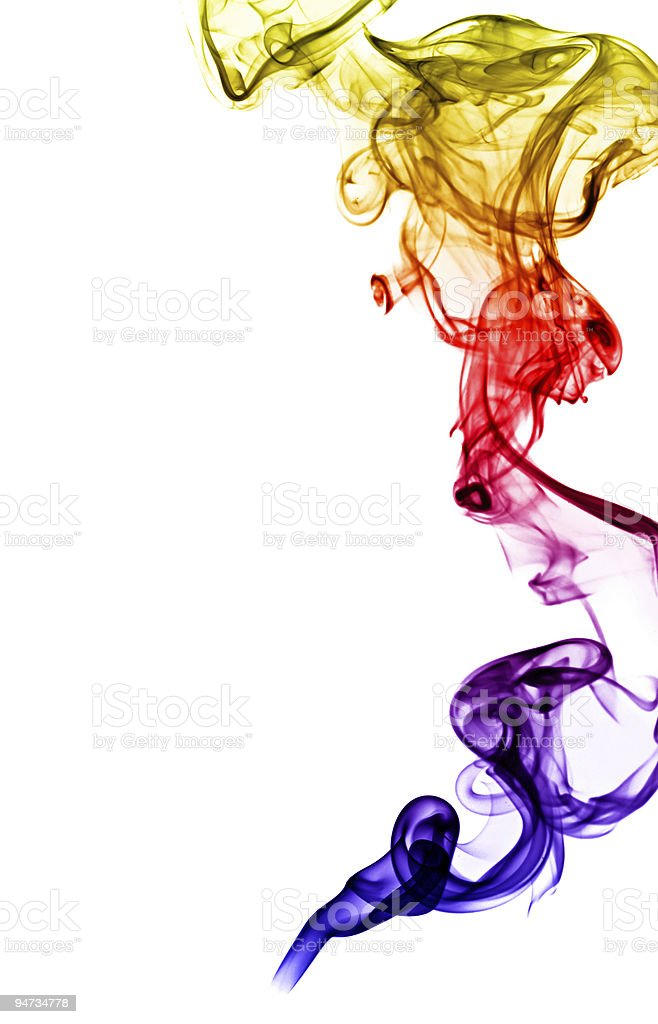 abstract smoke isolated on white royalty-free stock photo