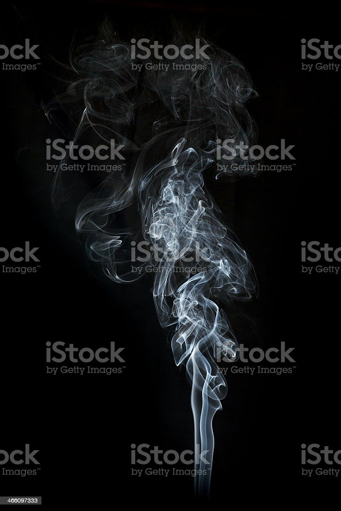 abstract smoke on black stock photo
