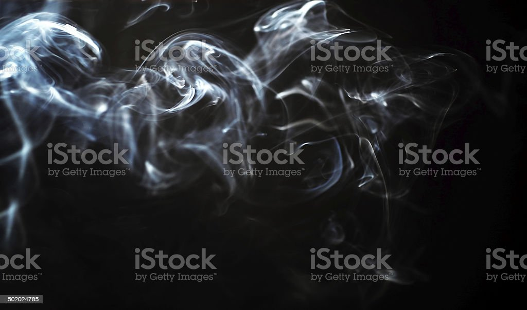 Abstract smoke pattern stock photo