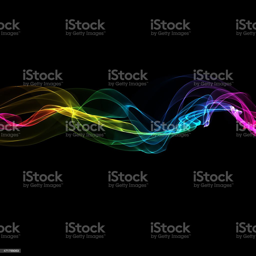 abstract smoke waves royalty-free stock photo