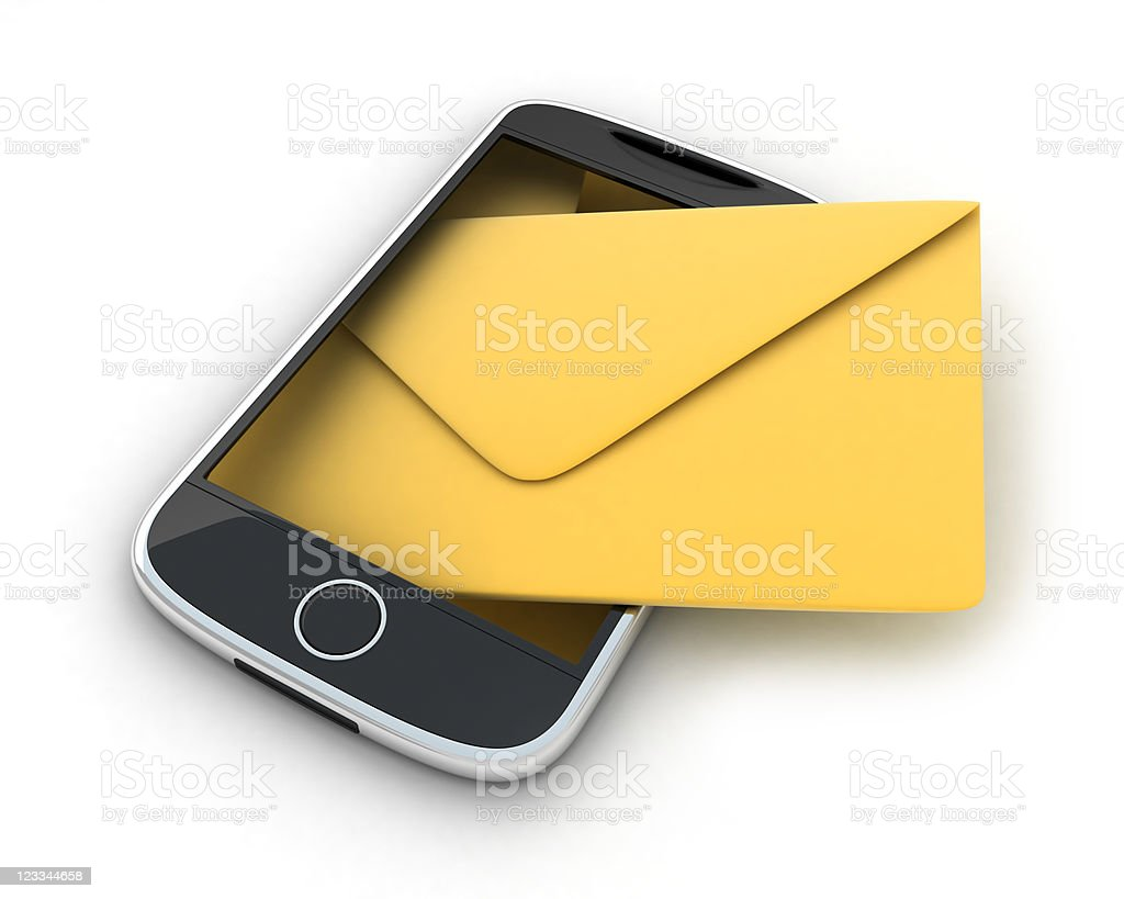 Abstract SMS royalty-free stock photo