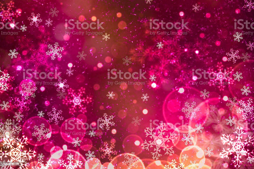 Abstract snowflake with defocused lights and purple quartz royalty-free stock photo