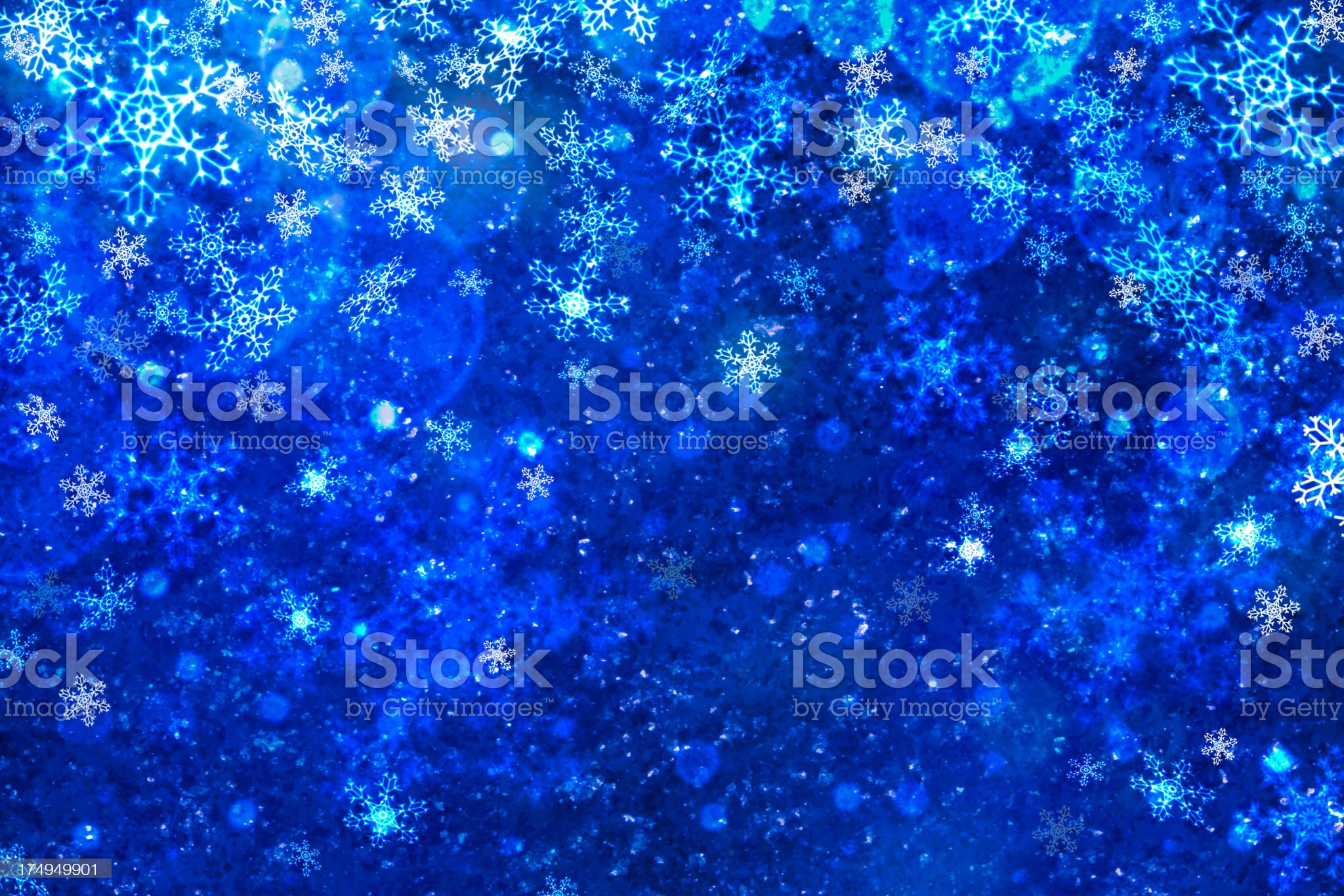 Abstract snowflake with defocused lights royalty-free stock photo