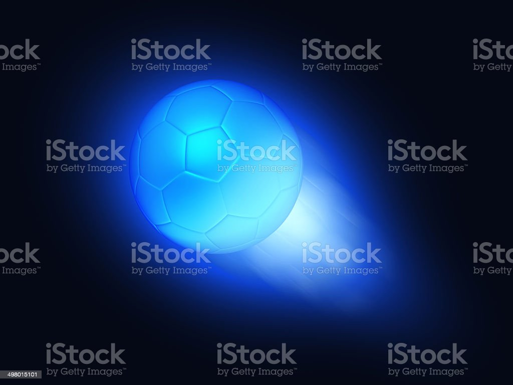 Abstract soccer ball in flight royalty-free stock photo