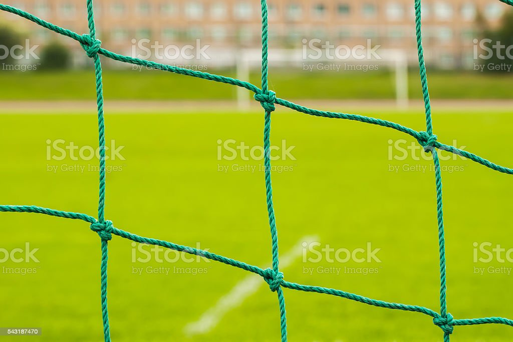 Abstract soccer goal net pattern stock photo