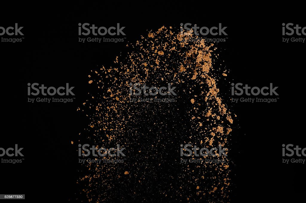 Abstract soil explosion. stock photo