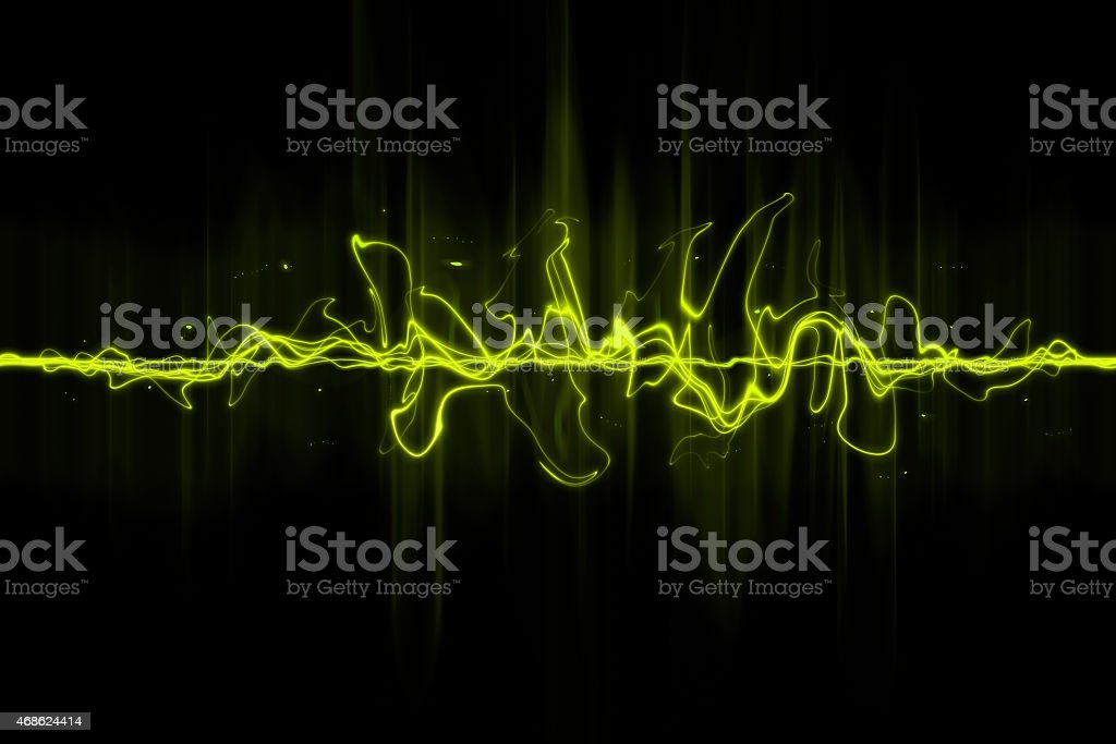 abstract sound wave stock photo
