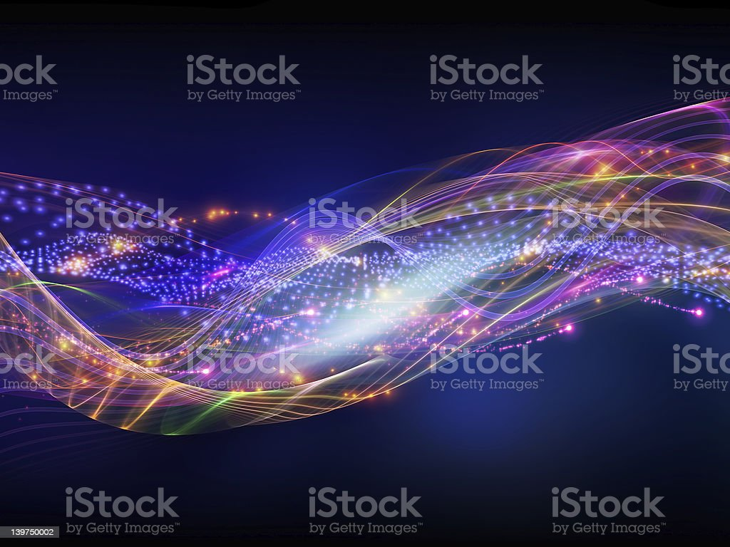 Abstract sound waves royalty-free stock photo
