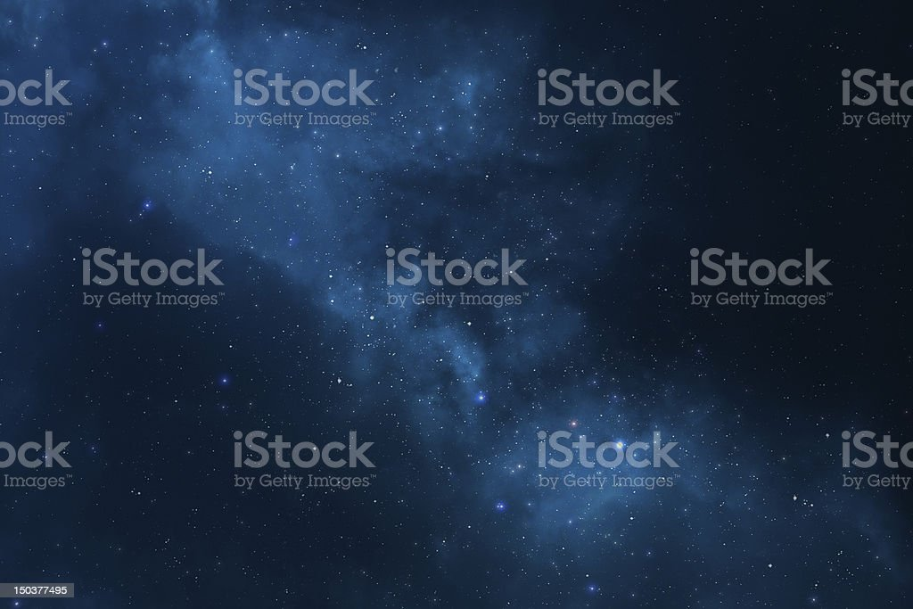 Abstract space background - stars, universe, galaxy and nebula royalty-free stock photo