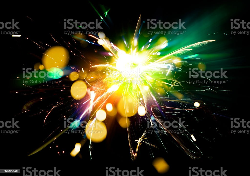 Abstract Sparkler Background stock photo