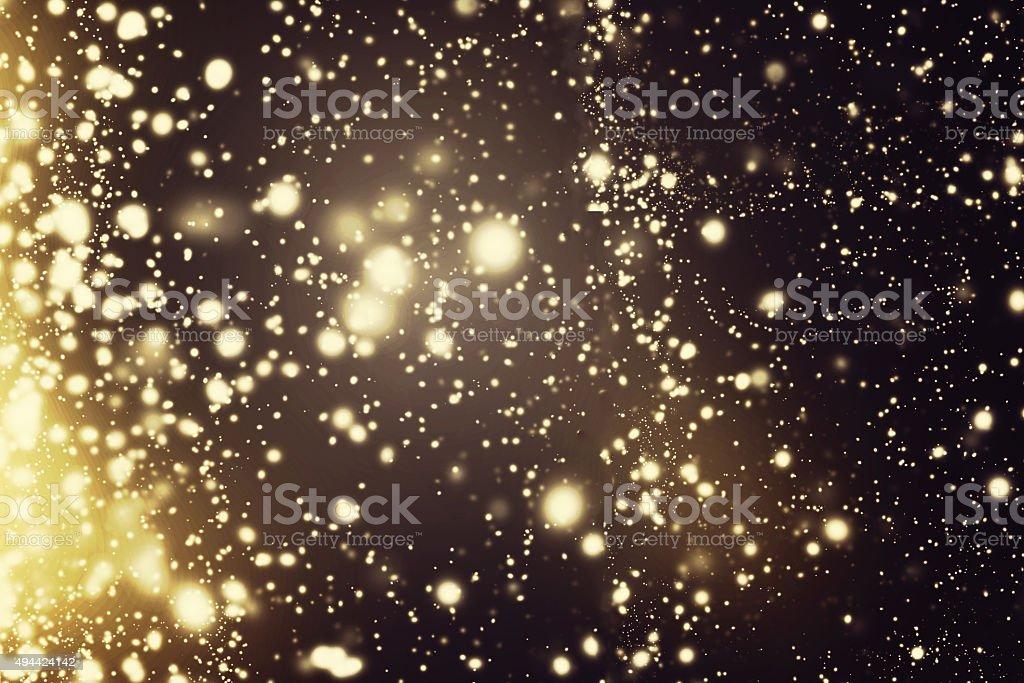Abstract sparkling background - dark Christmas  glittering stars stock photo