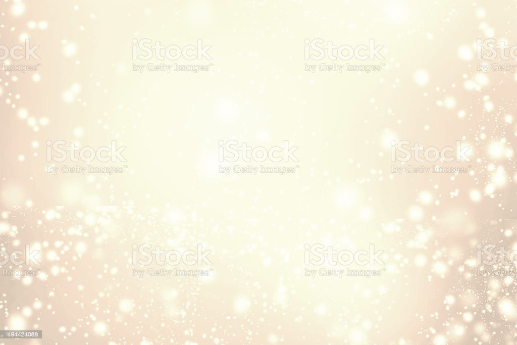 Abstract Sparkling Merry Christmas card - Golden stock photo