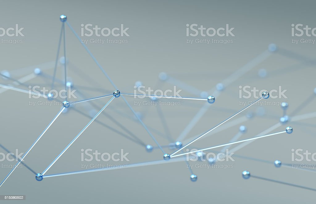 Abstract specular network stock photo