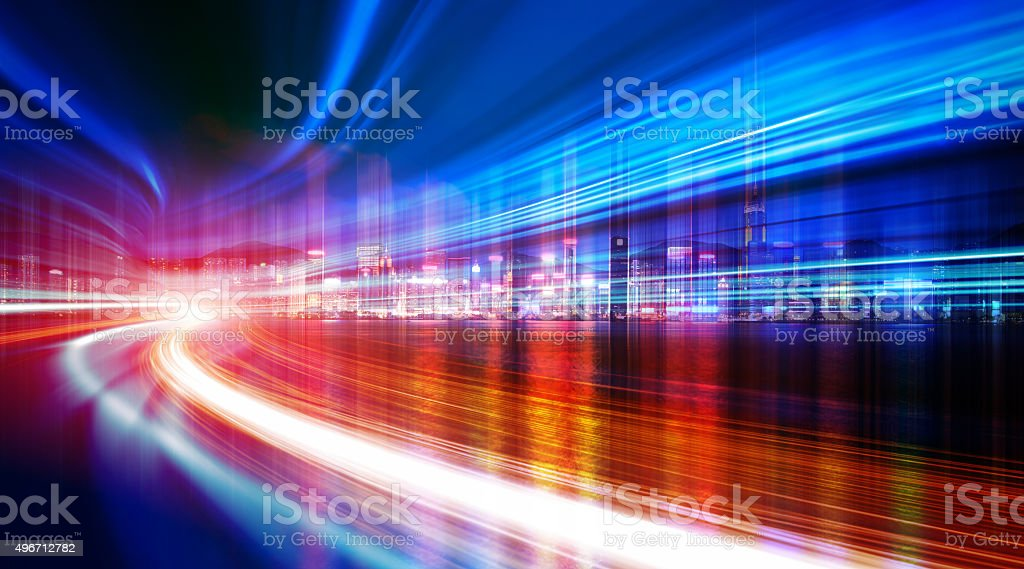 Abstract Speed motion in city street stock photo