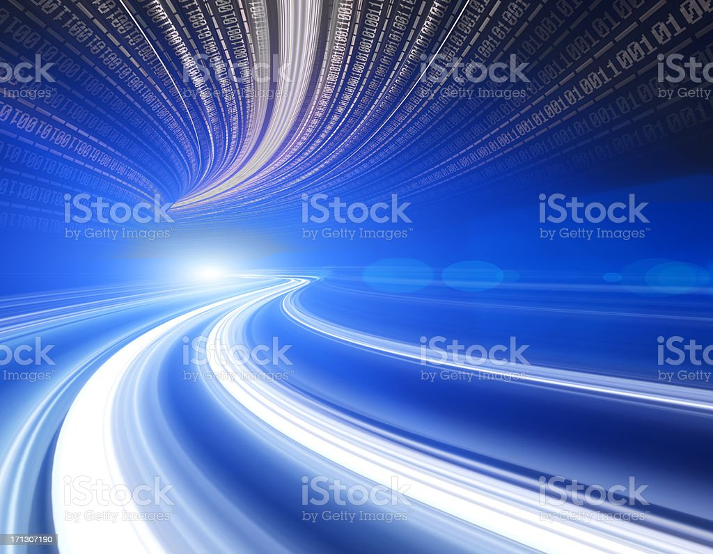 Abstract Speed motion in highway tunnel royalty-free stock photo