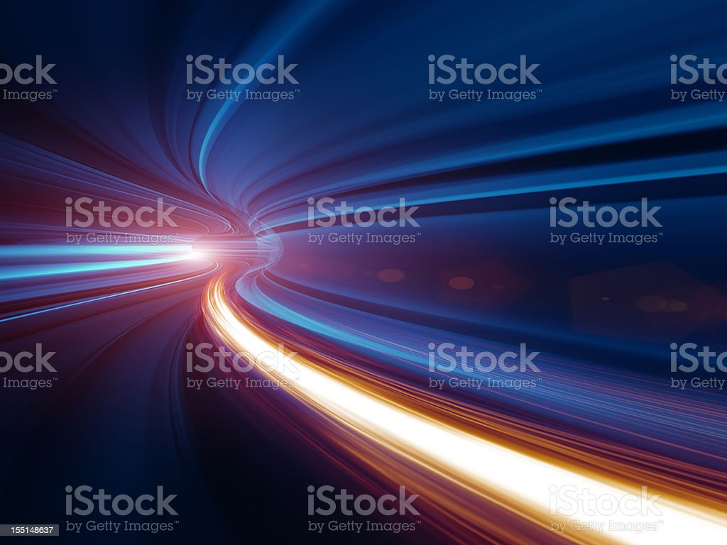 Abstract Speed motion in tunnel royalty-free stock photo