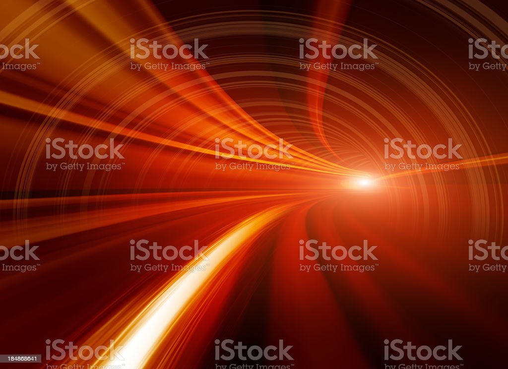 Abstract Speed motion in tunnel stock photo