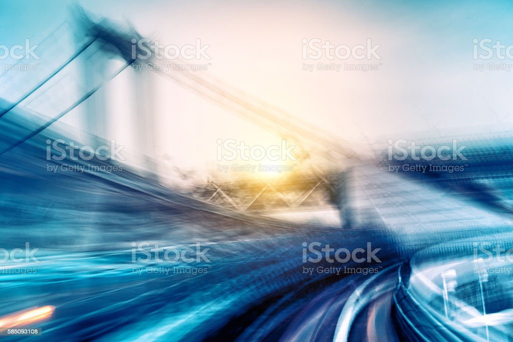 Abstract Speed motion through a city stock photo