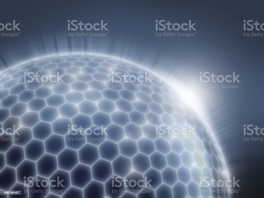 abstract sphere as a global network 3d illustration stock photo