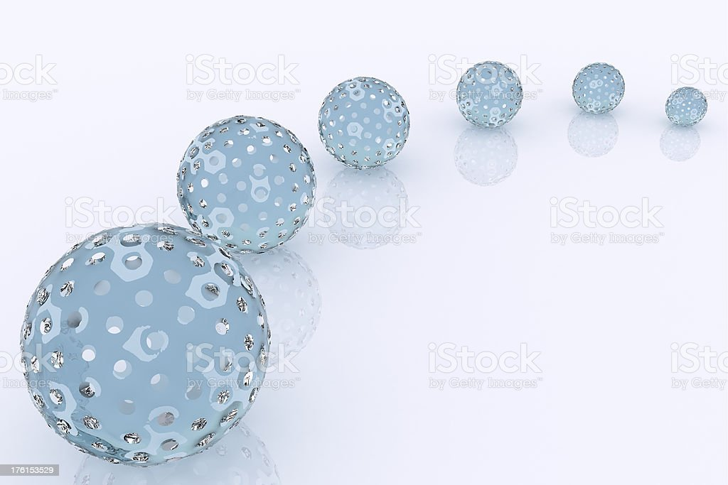 3D Abstract Spheres Background royalty-free stock photo