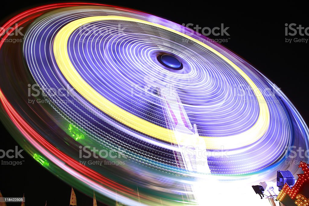 abstract spinning amusement park wheel royalty-free stock photo