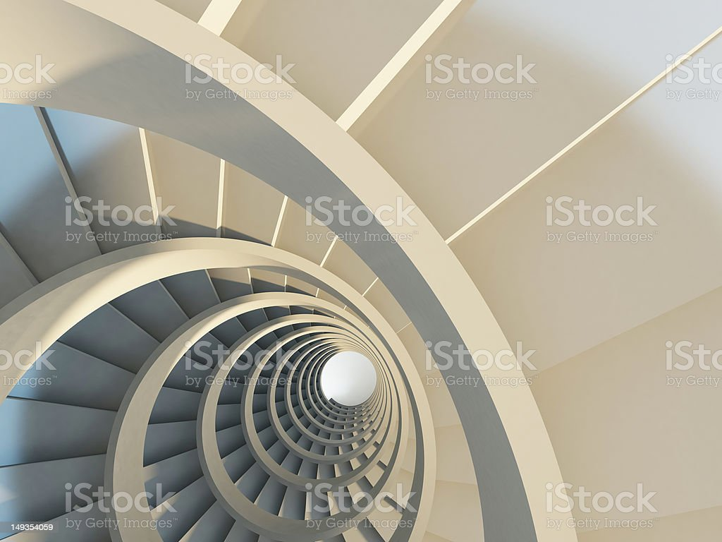 Abstract spiral staircase royalty-free stock photo
