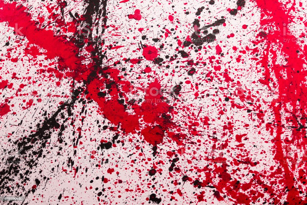 Abstract Splash Painting Art: Strokes with Different Color Patterns like Red and Black vector art illustration