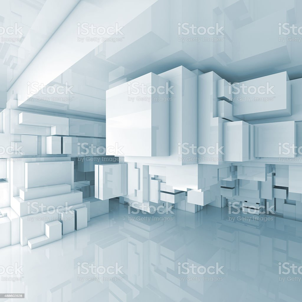 Abstract square 3d room interior background stock photo 3d room