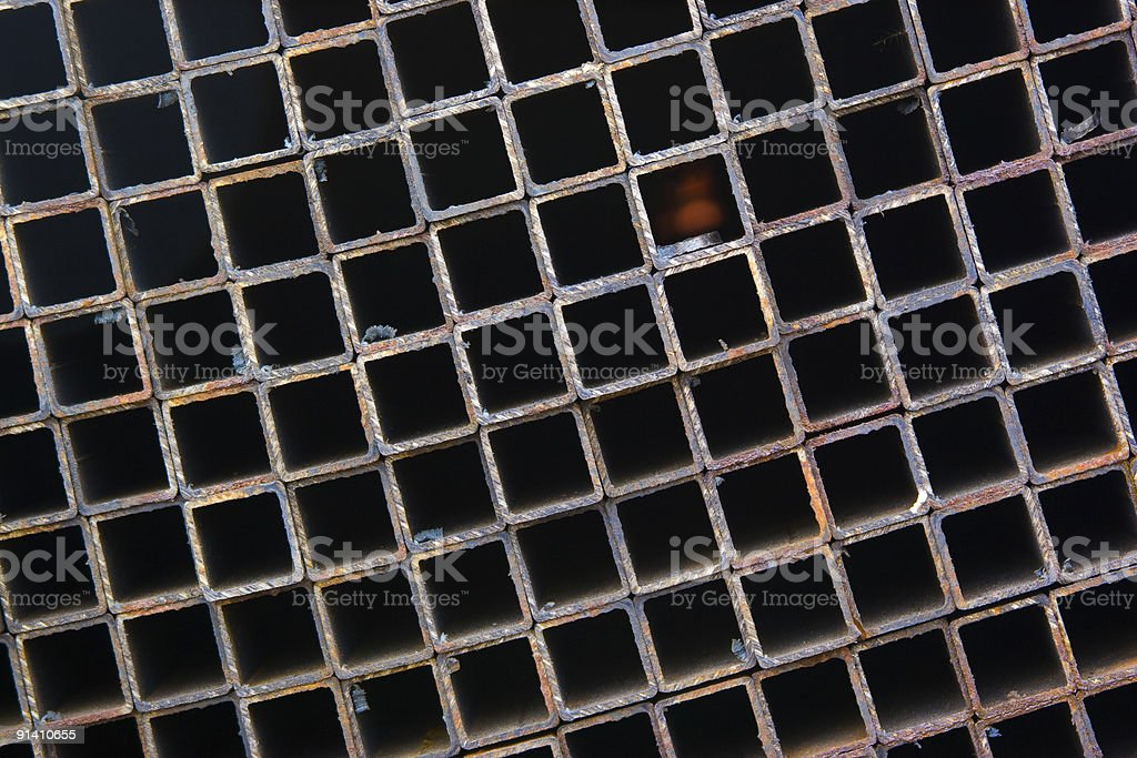 Abstract square metal background royalty-free stock photo