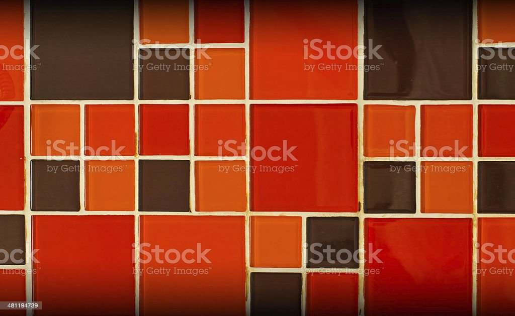 Abstract square pixel mosaic background royalty-free stock photo