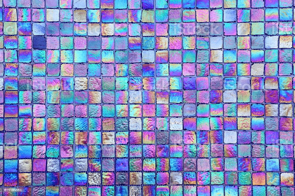 Abstract square seamless texture - iridescent tiles stock photo