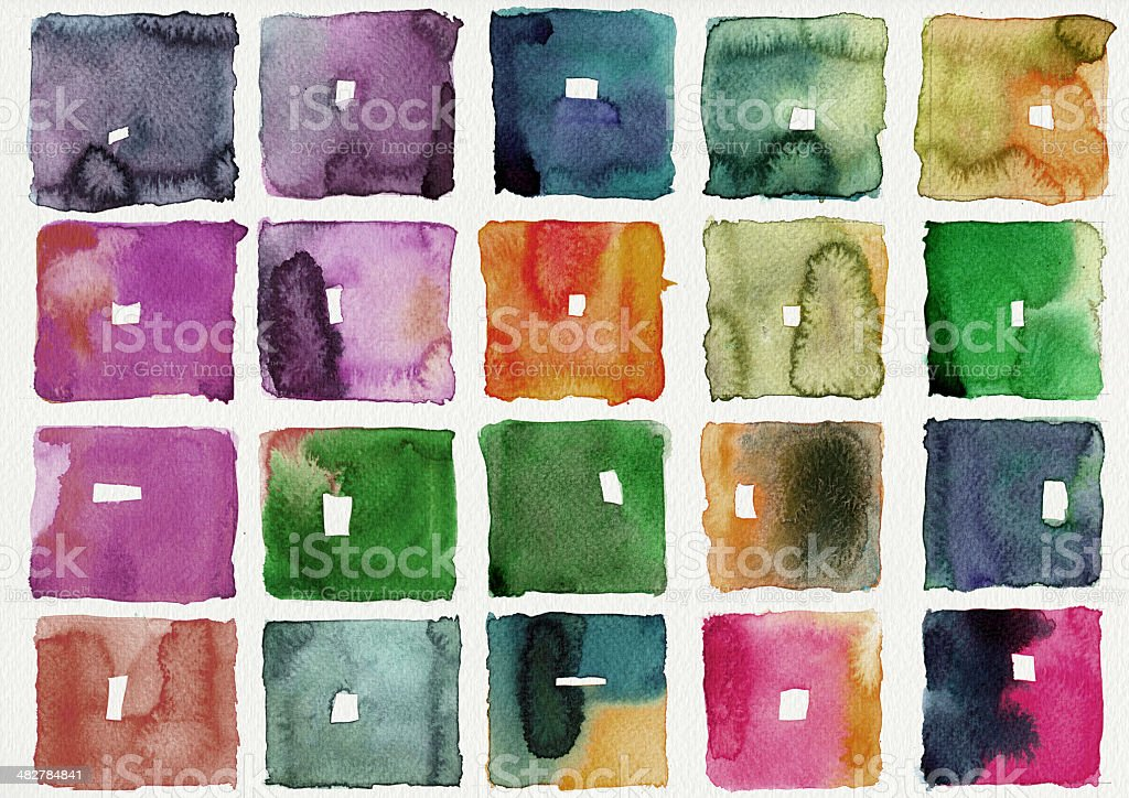 Abstract square watercolor royalty-free stock photo
