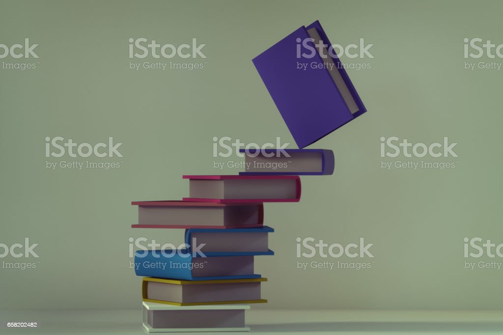 abstract stacking books stock vector art 658202482 | istock