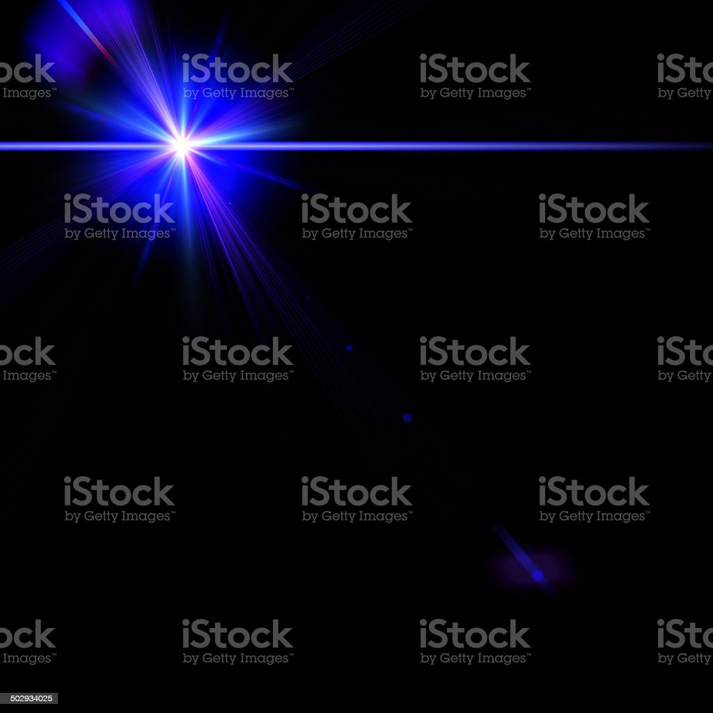 Abstract stage light over blue backgrounds for your design stock photo